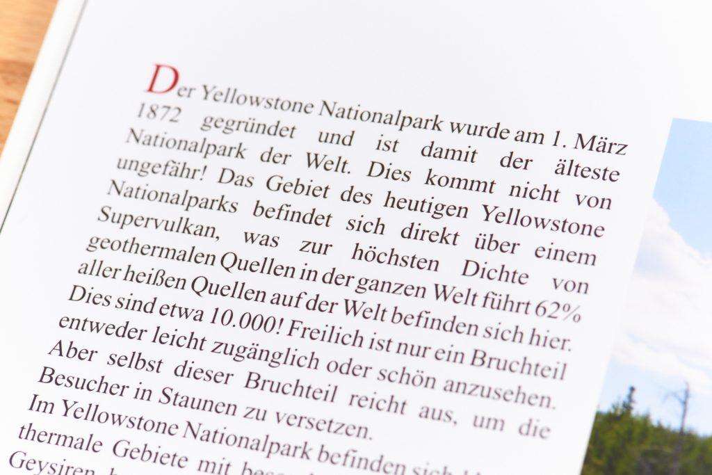 Textdarstellung im Professional Line Fotobuch von Saal Digital
